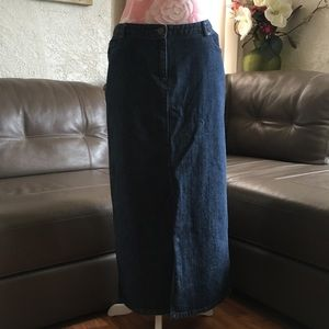 Charter Club Long Jean Skirt